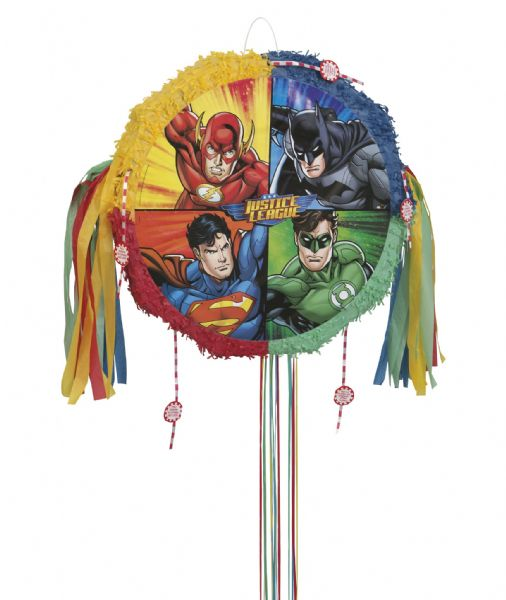 Justice League Drum Pull Pop Out Pinata